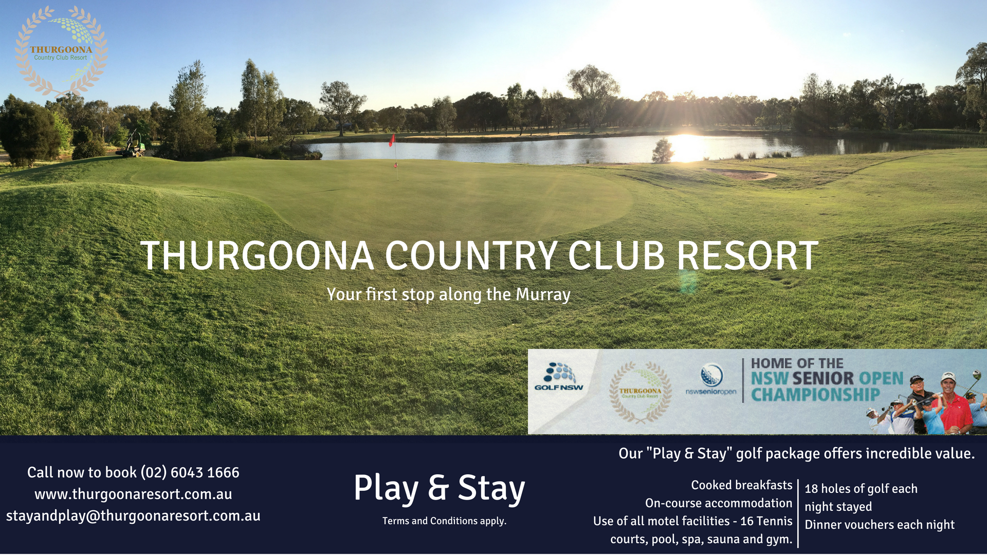Accommodation Albury, Stay and Play, Stay and Play package, Golf along the Murray, Play and Stay, Stay and Play Murray River